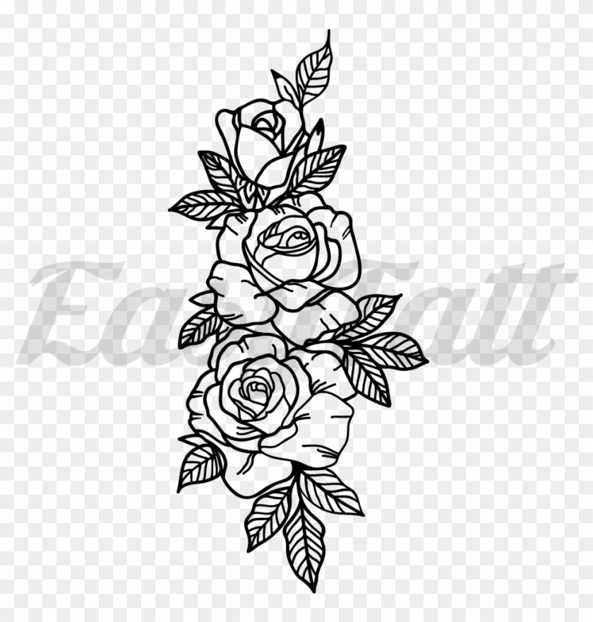 Roses Temporary Tattoo And Roses Fake Tattoos 3 Rose
