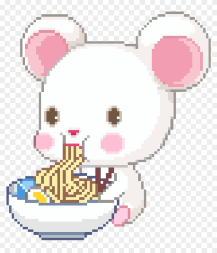 Cute Kawaii Pixel Pastel Food Teddy Rilakkuma Png Cute