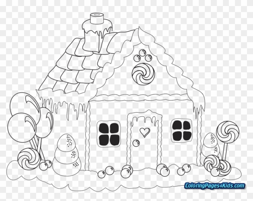 Gingerbread Christmas Colouring Pages.Christmas Coloring Pages Gingerbread House Christmas