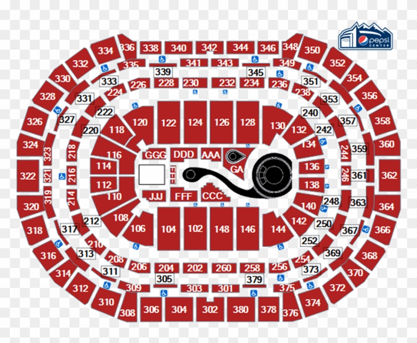 The Deal - Pepsi Center Seating Chart Basketball, HD Png Download