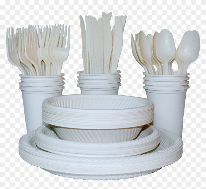 Plates Cups Forks Spoons, HD Png Download - 2632x2176