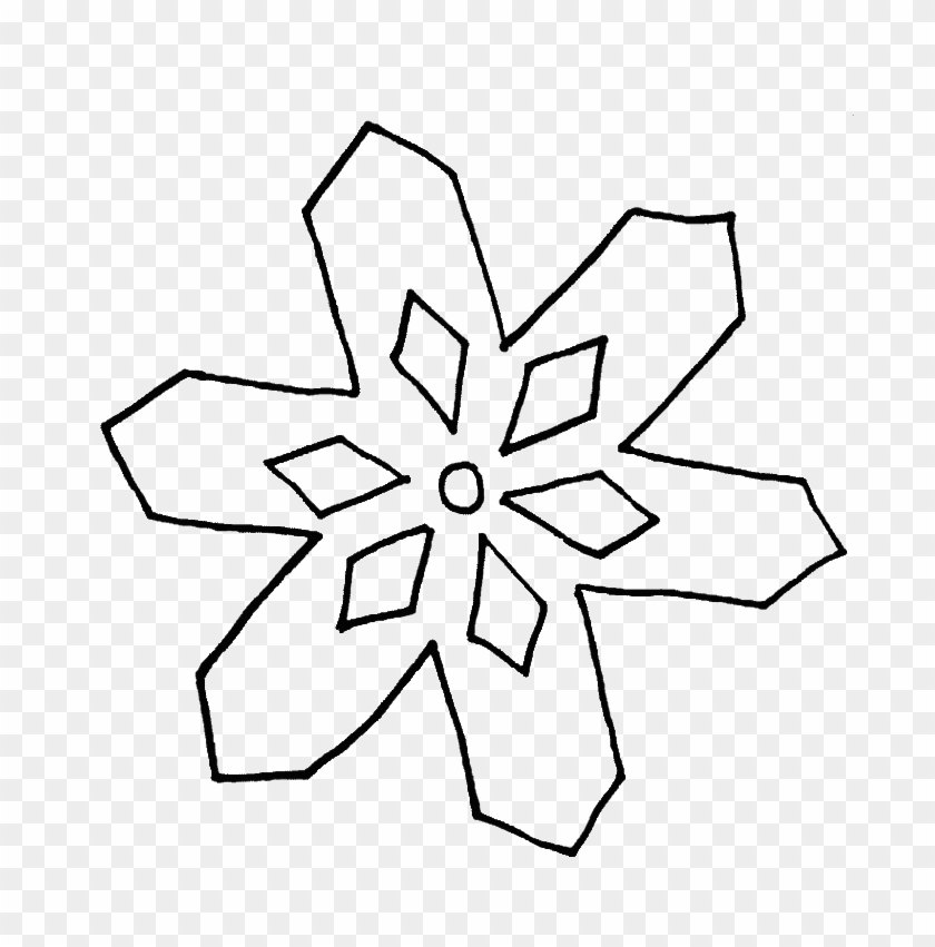 Simple Snowflake Coloring Pages - Simple Drawing Of ...