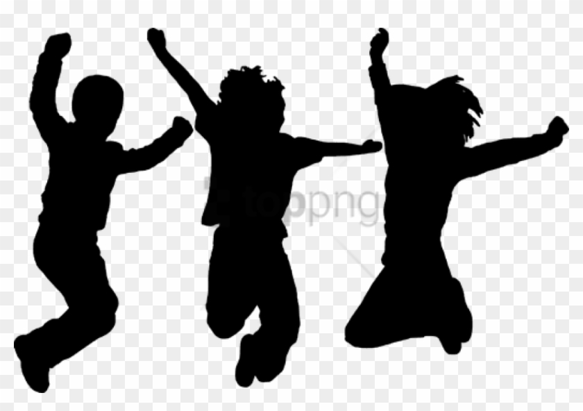 Dancing Clipart Png Dance Kids Silhouette Transparent Png 850x559 3187953 Pngfind