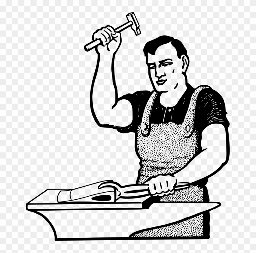 Blacksmith Computer Icons Drawing Black And White Anvil