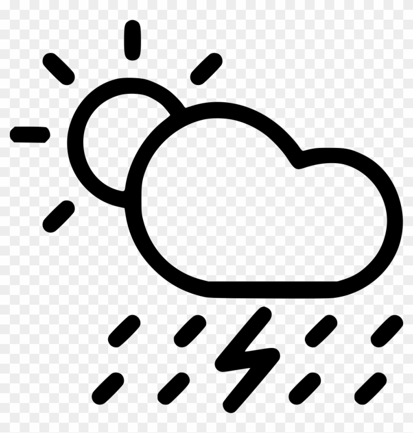 Sun And Cloud Clipart Png Black And White Rain Clip Art Png