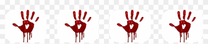 Bloody Handprints - Transparent Hand Blood Horror Png, Png
