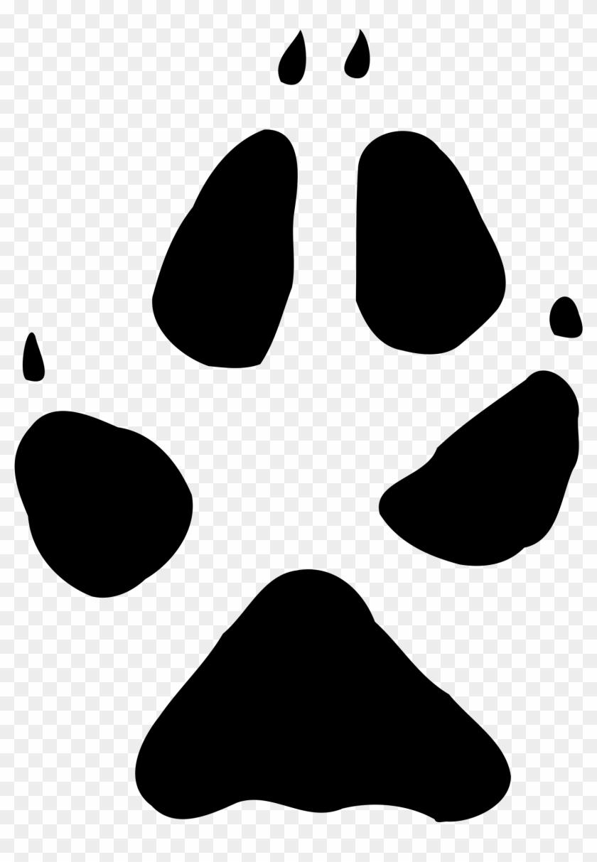 2000 X 2885 14 - Fox Paw Print Clip Art, HD Png Download