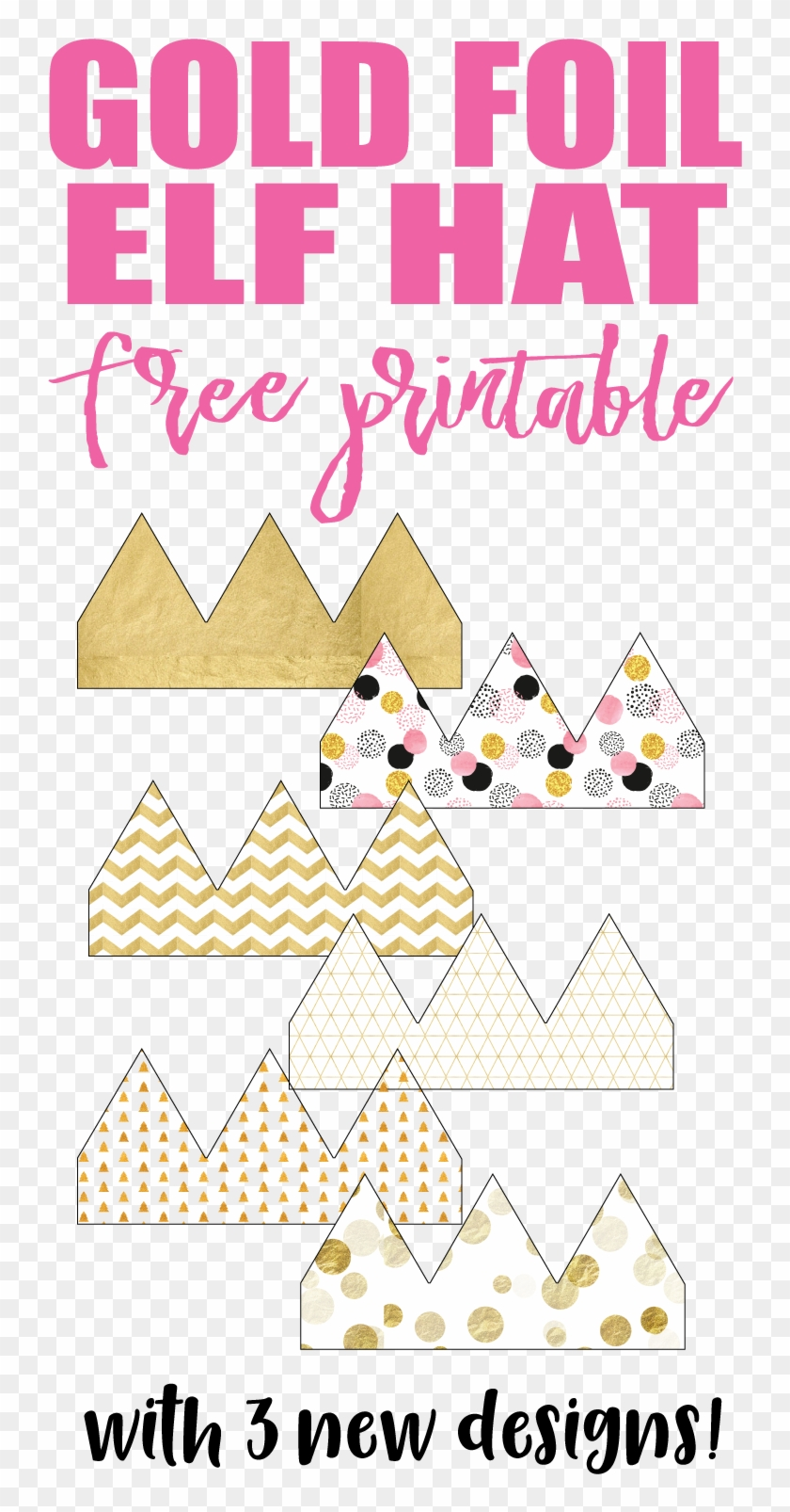 picture about Free Printable Elf Pattern named Acquire Your Free of charge Printable Elf Hats And Insert Some Whimsy - Paper