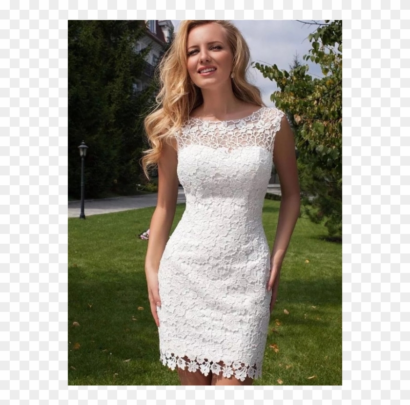 White Wedding Dress White Lace Wedding Dress Lace Short Beach Wedding Dresses Hd Png Download 750x750 3210324 Pngfind