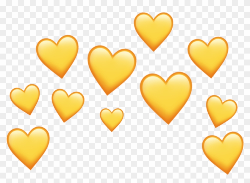 Yellow Heart Heartcrown Crown Aesthetic Tumblr Clipart