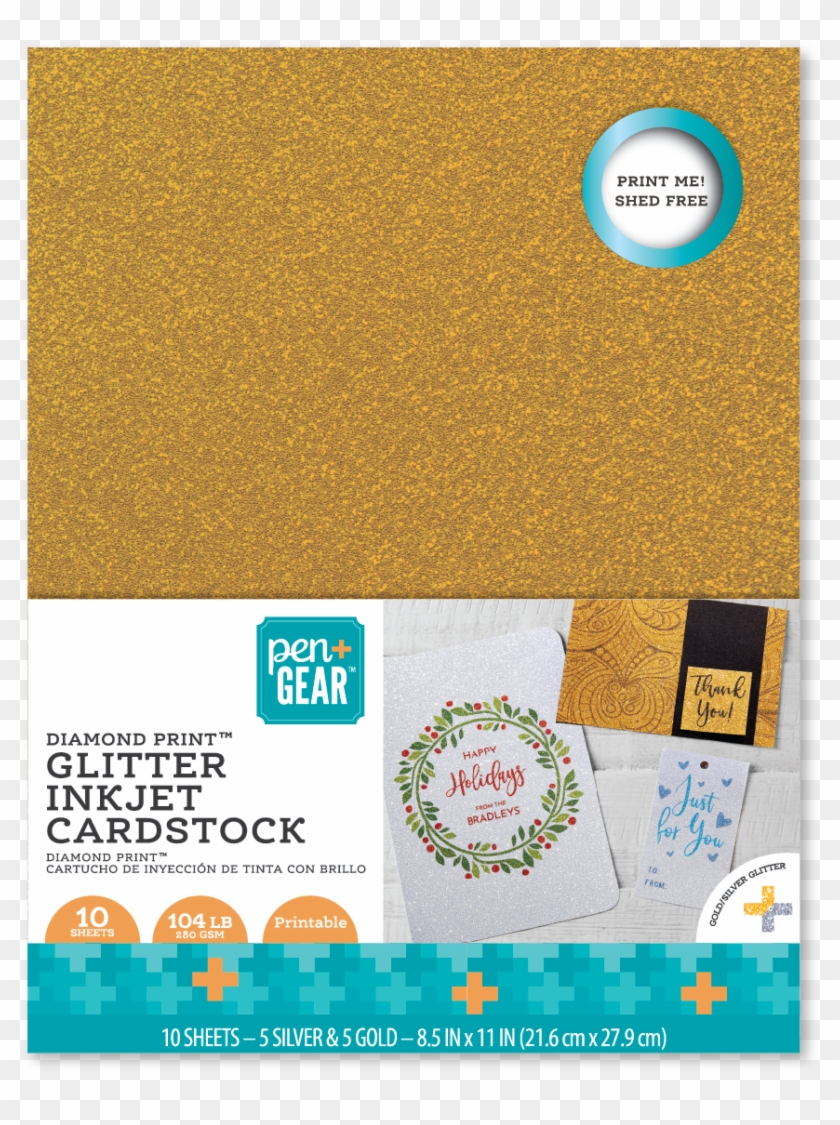 photograph relating to Printable Card Stock named Pen Tools Glitter Inkjet Printable Silver-gold Cardstock