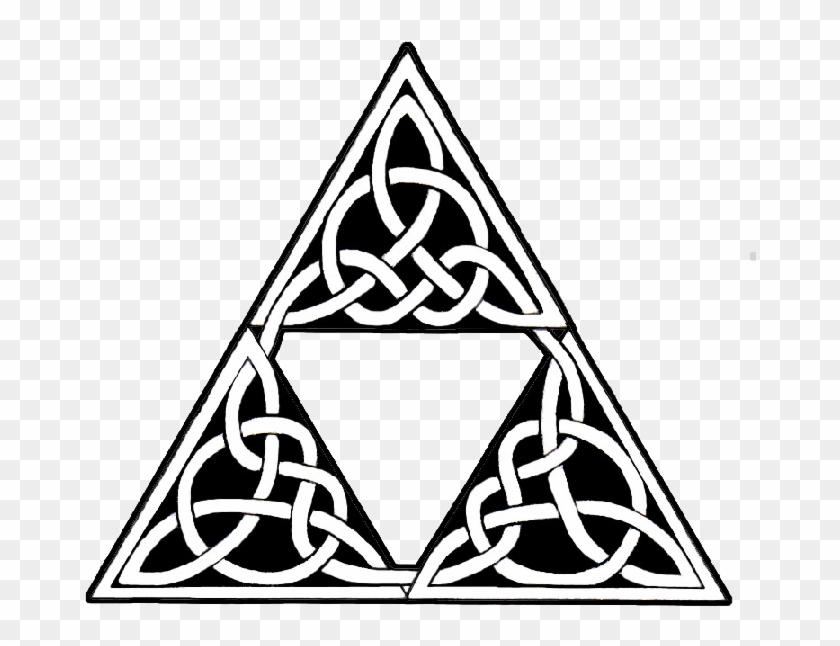 Celtic Tribal Triangle Tattoo Design Triangle Tribal Hd Png
