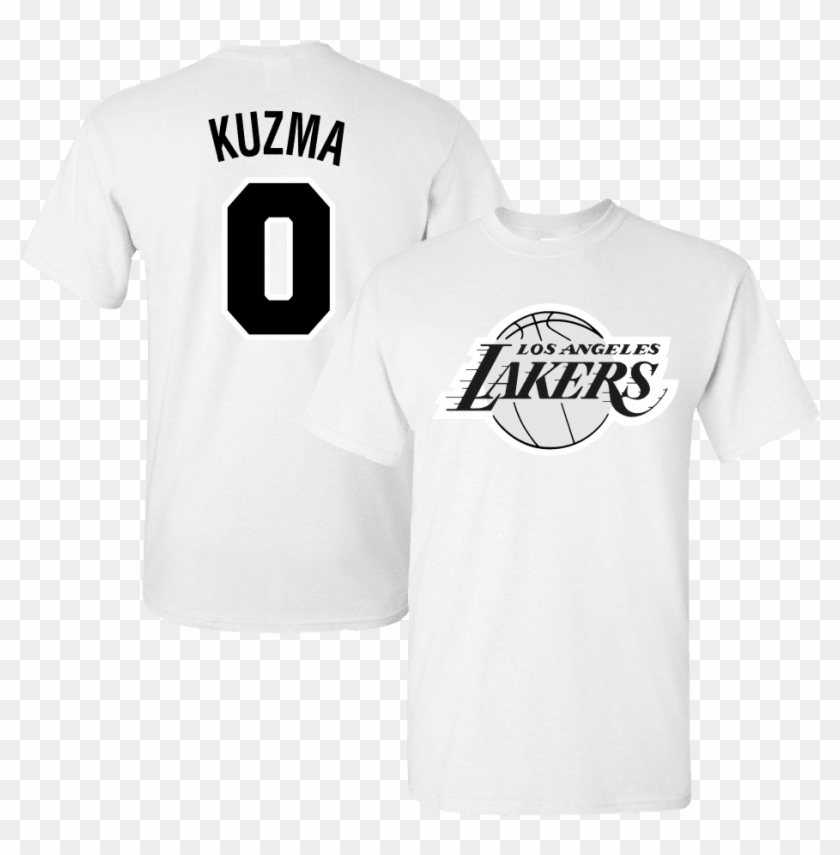 wholesale dealer 37d39 8b0a0 Men's La Lakers Kyle Kuzma Black And White Jersey T-shirt ...