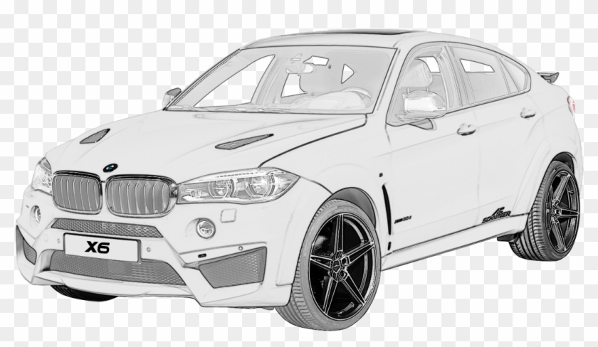 Rim Drawing Car Bmw Drawing Bmw X6 Car Hd Png Download