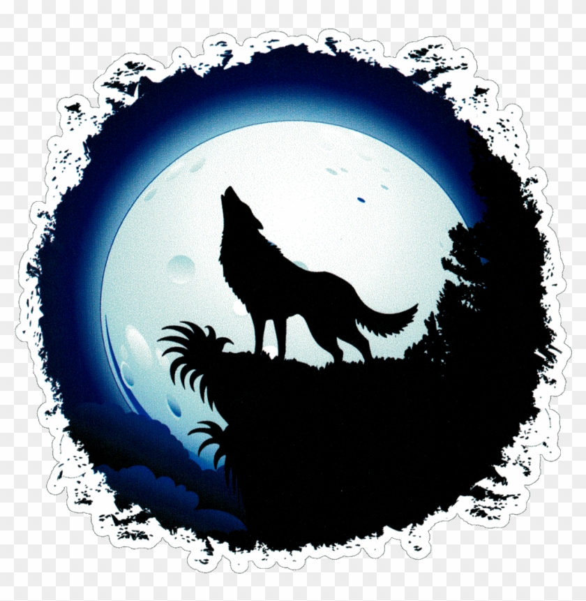 Wolf moon. Full draw a howling