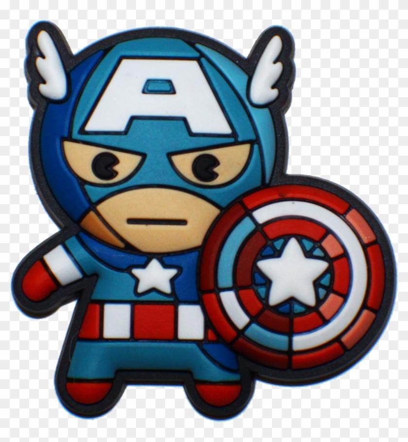 Avengers Clipart Object - Marvel Kawaii Captain America, HD