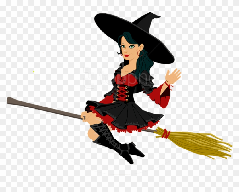 Free Png Witch Png Images Transparent Witch Flying On A Broom Png Png Download 850x765 3254370 Pngfind
