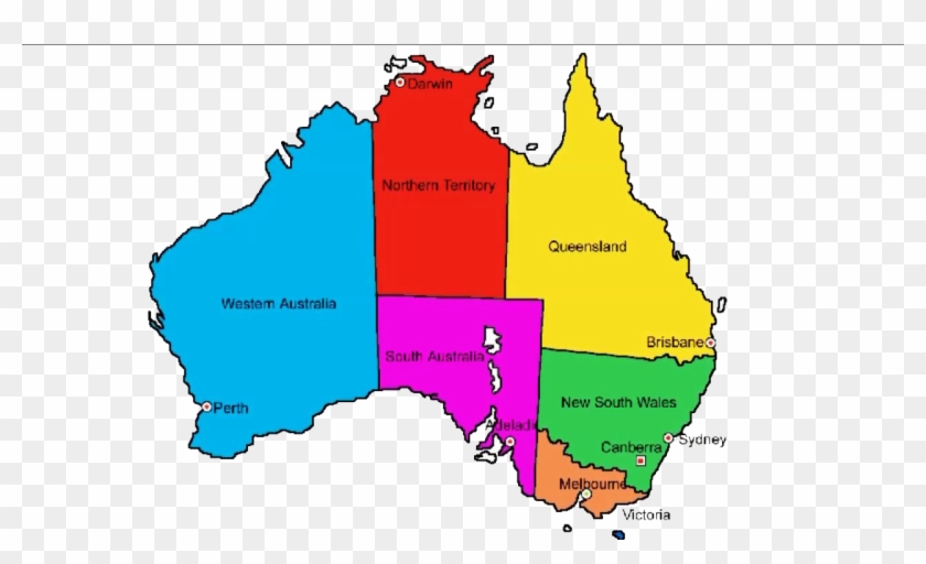 Australia Map With Names - North Of South Australia, HD Png ...