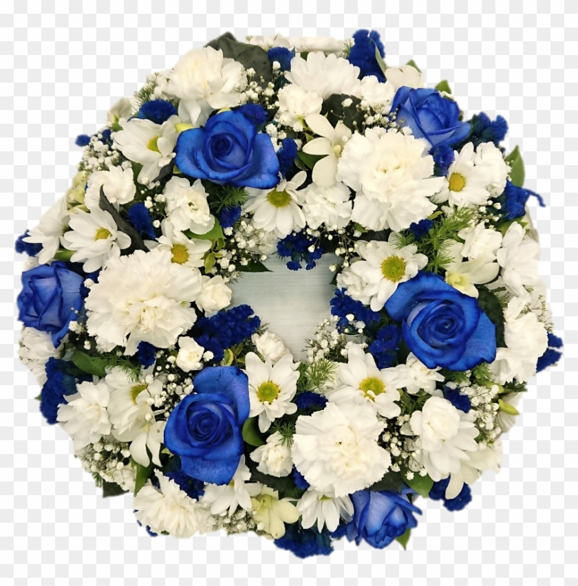 Blue And White Blue Funeral Flowers Png Transparent Png 960x951 3265248 Pngfind