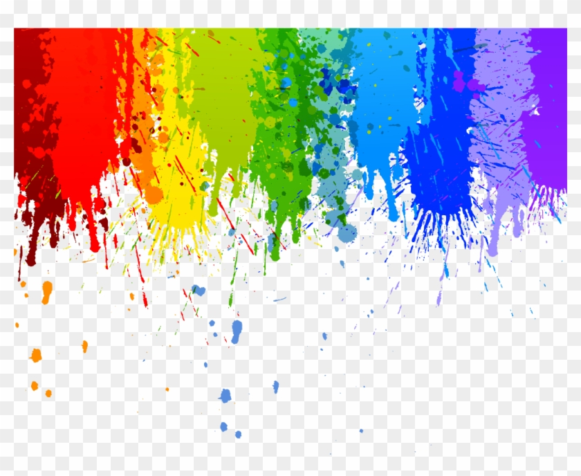 paint #interesting #art #color #colour #rainbow #splash