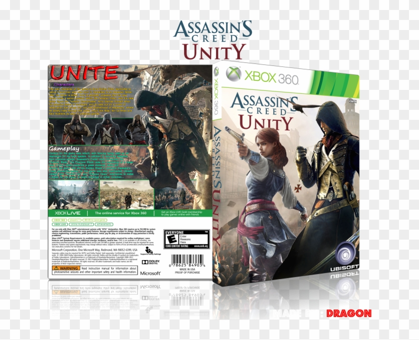 Assassin S Creed Unity Box Art Cover Assassin Unity Xbox 360 Hd