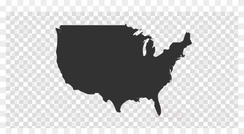 Usa Canada Map Png Clipart United States Of America - Canada Map ...