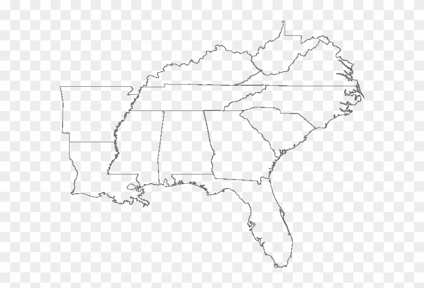 Fill In The Blank Us Map Quiz Us Southeast Region Blank ...