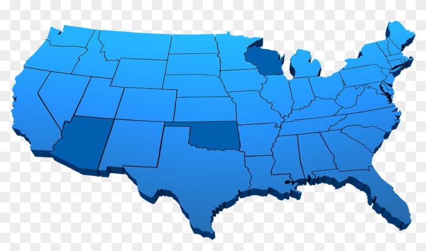 united states map 3d Us Map Blue Png United States Map Png 3d Transparent Png