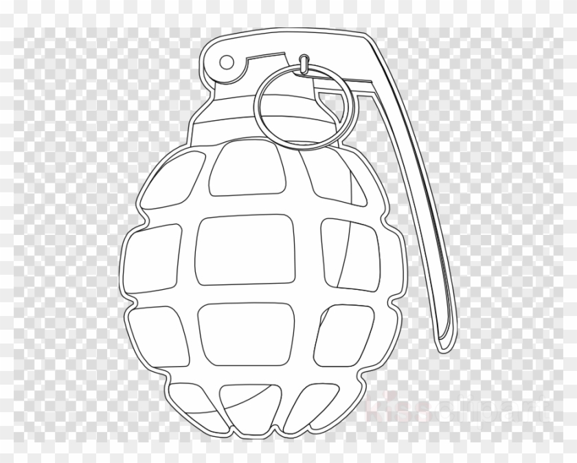 Download Grenade Coloring Page Clipart Coloring Book - Granada Nerf Para  Colorear, HD Png Download - 900x680(#333232) - PngFind