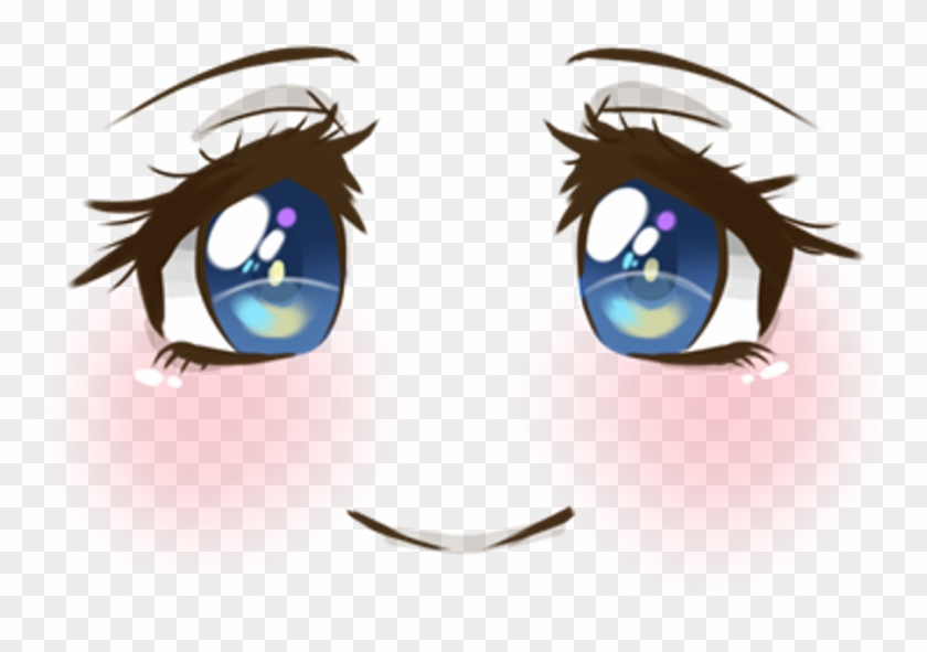 Cute Face Smile Blush Blueeyes Anime Animegirl Manga Anime Eyes Transparent Hd Png Download 923x606 333254 Pngfind