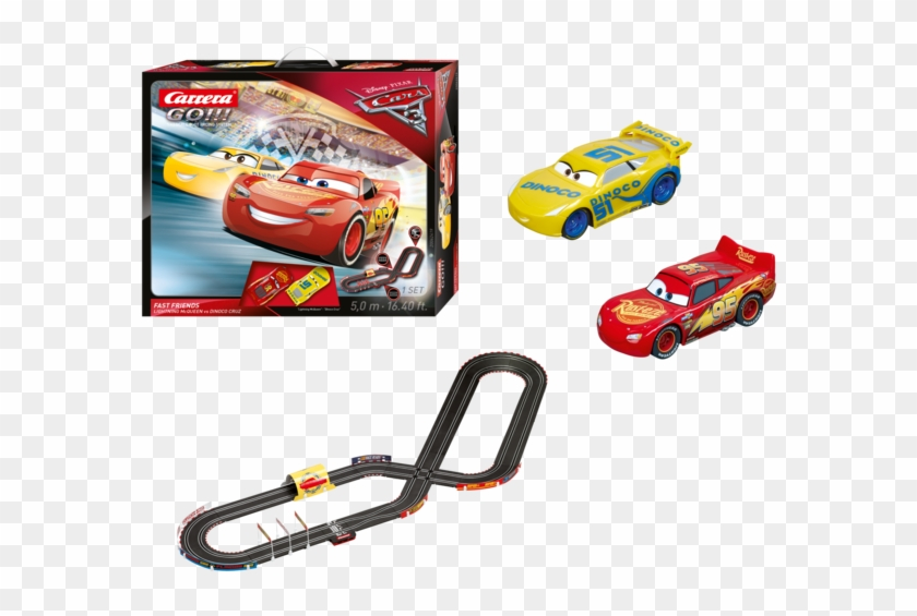 Disney Pixar Cars 3 Fast Friends Slot Car Race Track Circuit Cars 3 Carrera Hd Png Download 700x600 335114 Pngfind