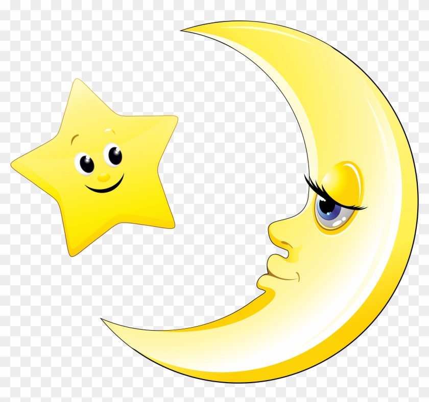 Moon happy. Transparent cute and star