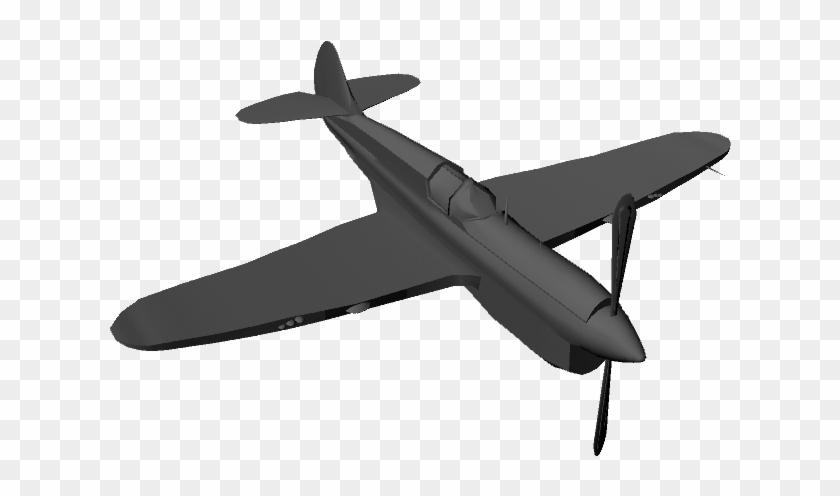 Basic Propeller Plane 3d Model Ma Mb - Plane 3d Model Png
