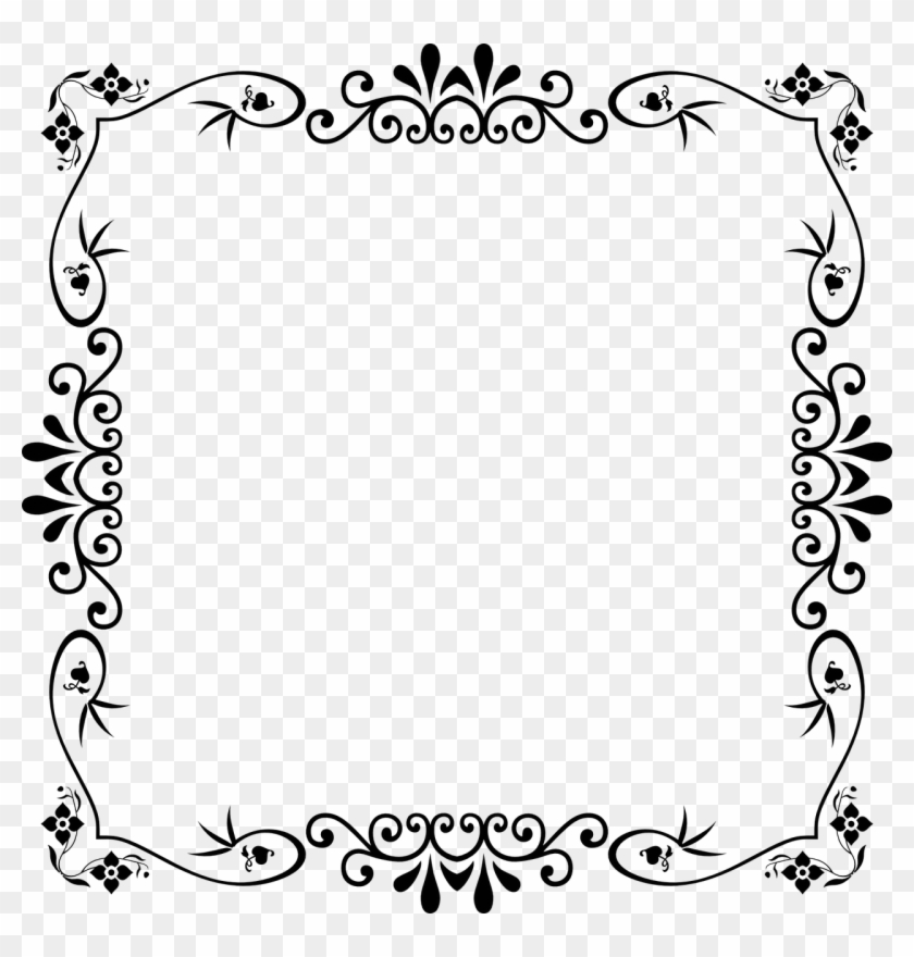 Style Design Abstract Cute Black And White Page Border Hd Png Download 1280x1280 3323744 Pngfind