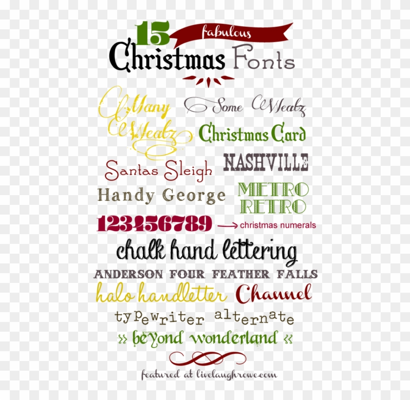 15 Free Christmas Fonts - Free Vintage