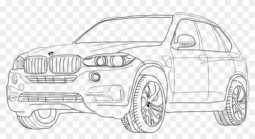 Rim Drawing Car Bmw Bmw X5 Hd Png Download 3186x1587
