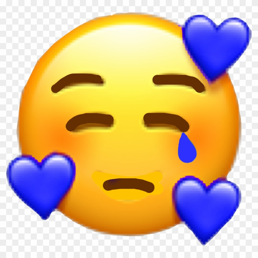 Emoji Sad Tears Sademoji Tumblr Blue Freetoedit Stickers New