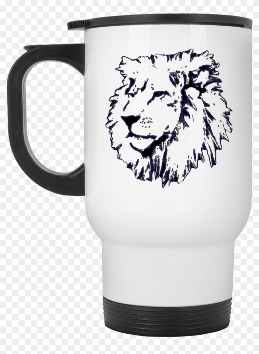 Joseph Lion Outline White Travel Mug You Know What Gets On My Nerves Myelin Hd Png Download 1155x1155 3346888 Pngfind Original black and white lion painting/pastel artwork. joseph lion outline white travel mug