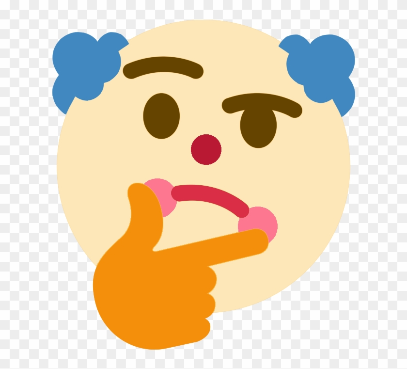 Thinking Clown - Profile Pics For Discord, HD Png Download
