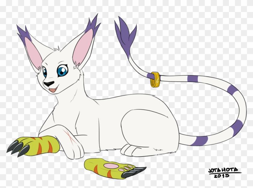 Gatomon's Scar - Digimon Gatomon Scar, HD Png Download