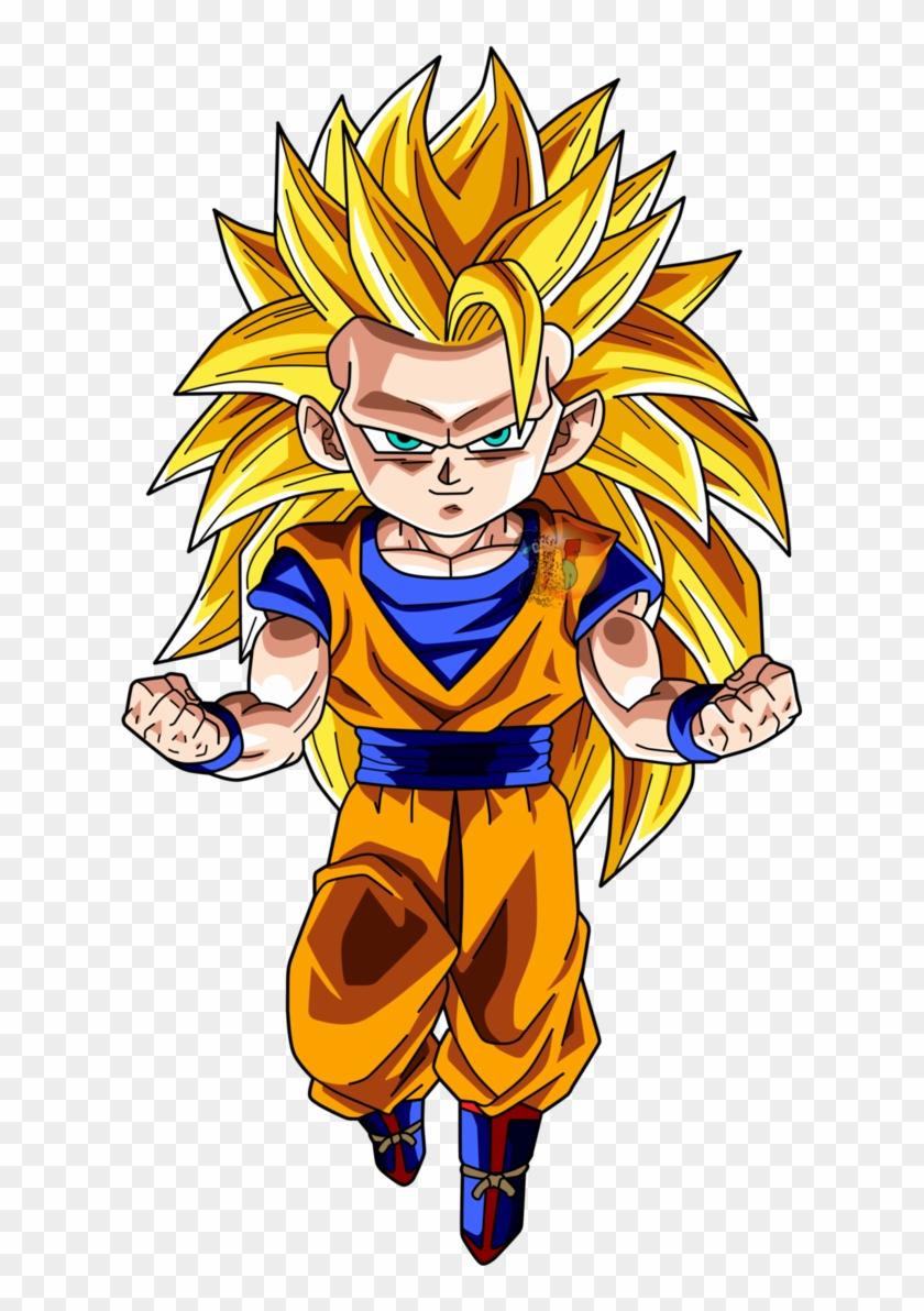 Goku Chibi Png Goku Super Saiyan 3 Chibi Transparent Png