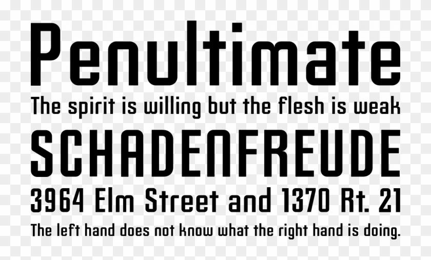 Slim Jim Font Phrases - Din Font, HD Png Download - 720x427