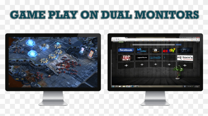 Dual Monitor Png - Games With 2 Monitors, Transparent Png