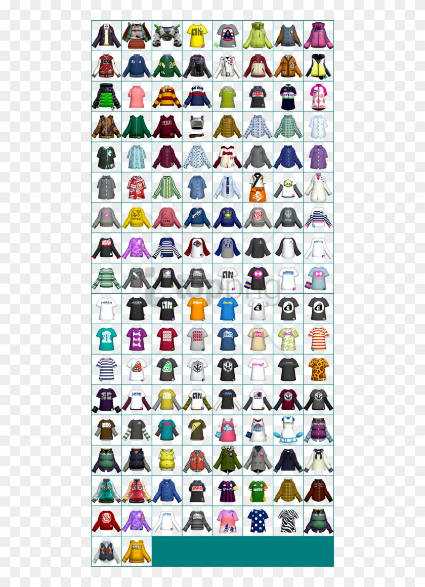 Free Png Clothing Icons Video Game Sprites, Splatoon