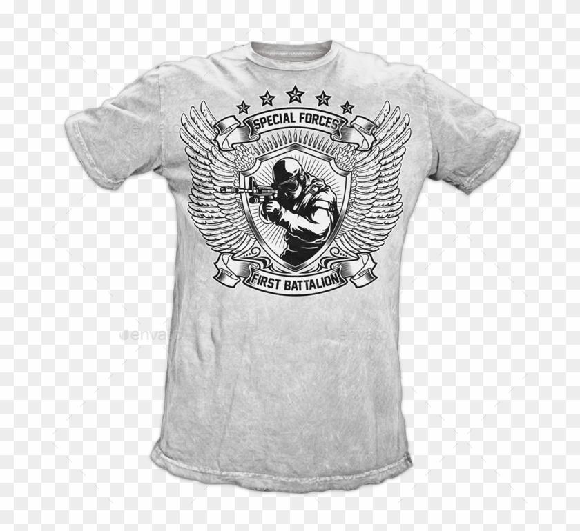 9baf10b25ece 2 Military T-shirt Mockup - Active Shirt, HD Png Download - 700x697 ...