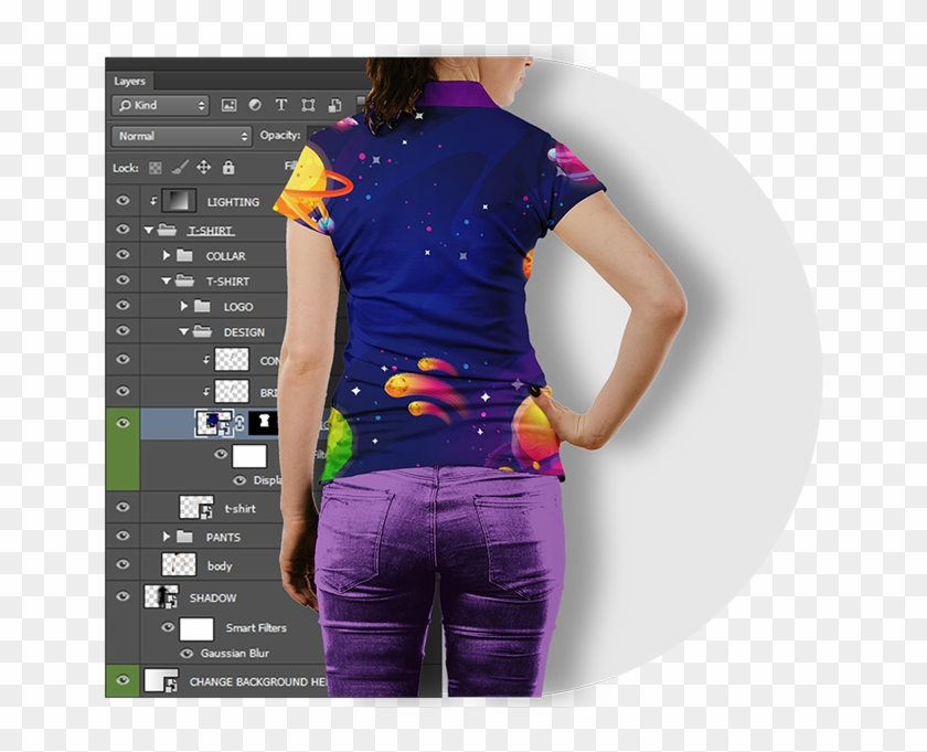 T Shirt Mockup Bundle With Doll Model And Male Models Polo Shirt