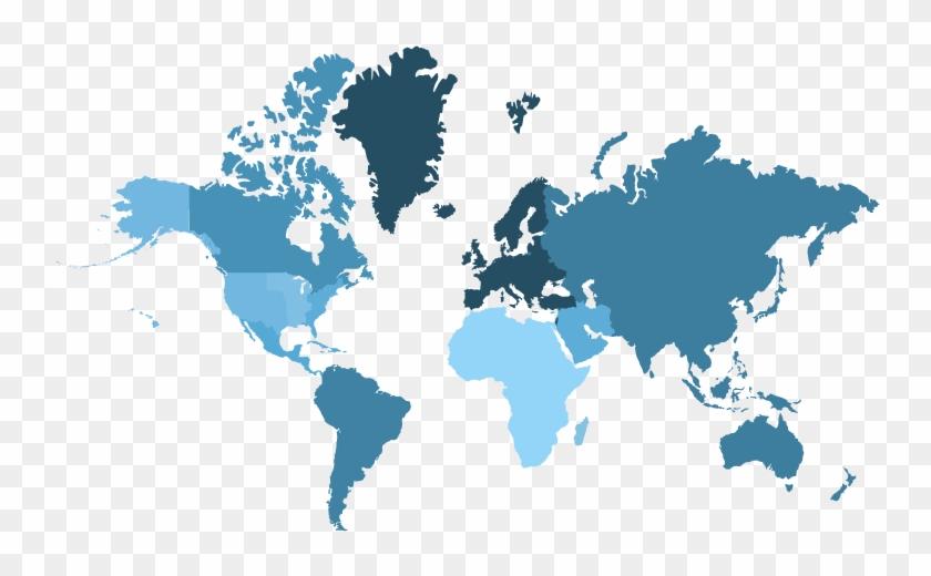 Select Region Caribbean - Flat High Resolution Silhouette World Map ...