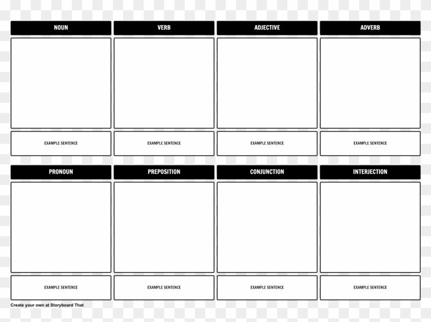 Parts Of Speech Storyboard Template Parts Of Speech Template Hd