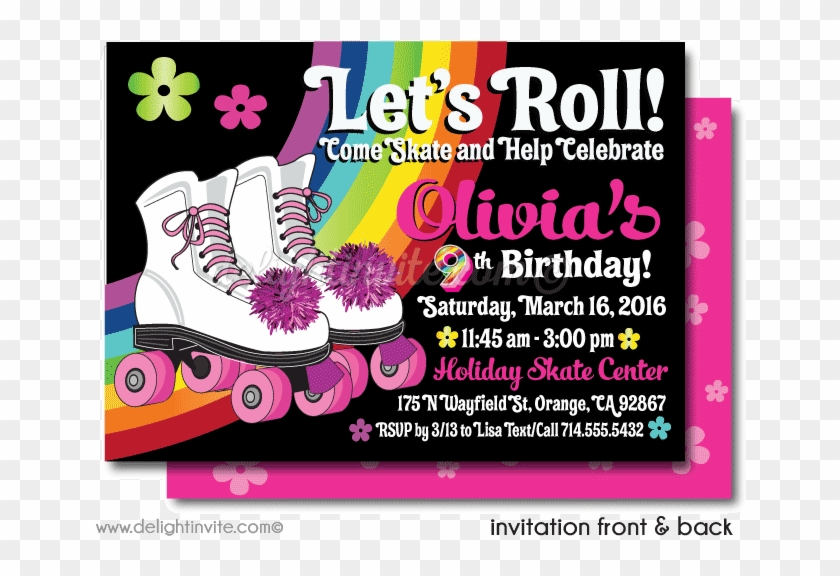 Roller Skate Party Printable Invitations Di 225dp Birthday Party
