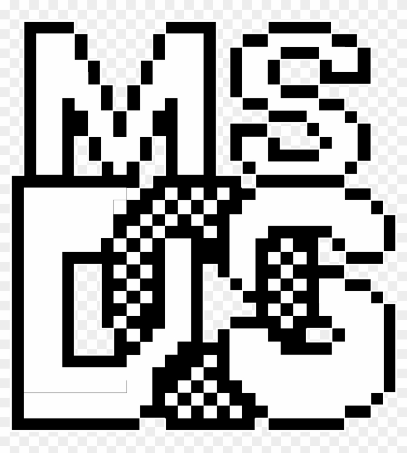 Ms Dos Prompt Logo Black And White - Ms-dos, HD Png Download
